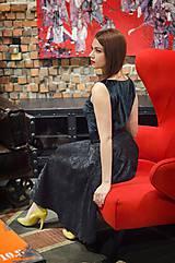 Sukne - Čierna kruhová sukňa - 7852113_