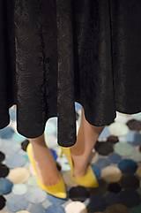 Sukne - Čierna kruhová sukňa - 7852115_
