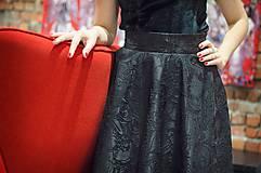 Sukne - Čierna kruhová sukňa - 7852117_