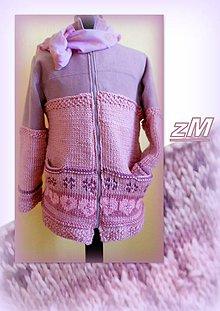 Kabáty - Kabátik s pleteným vzorom (38 - 40). - 7853620_