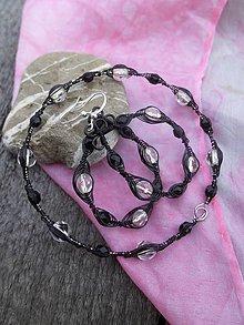 Sady šperkov - Súprava černo-biela - 7853781_