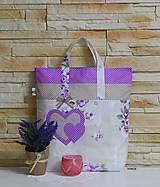 - Nákupná taška - so srdiečkami - 7853916_