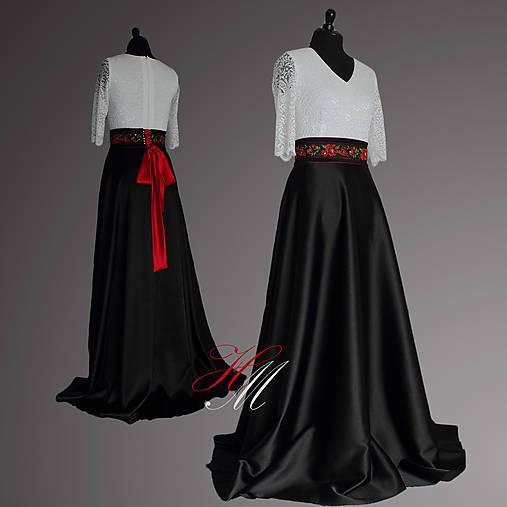 Spoločenské šaty s folk opaskom   Haem - SAShE.sk - Handmade Šaty 8a25d223608