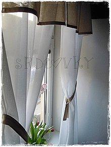 Úžitkový textil - Krátky záves z prírodných materiálov - 7851332_