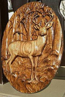 Dekorácie - Drevené obrazy 3D reliefy Poľovníctvo - 7858138_