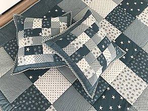 Úžitkový textil - prehoz 140x200cm azurovo zelena s bielou - 7856052_