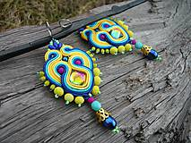 - Soutache náušnice Tropical Feelings - 7858162_