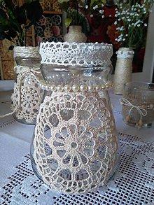 Nádoby - natur / vintage váza široká - 7855960_