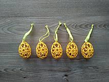 Háčkované vajíčka žlté