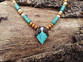 Náhrdelníky - Náhrdelník Tyrkys + Mesačný kameň - 7857654_