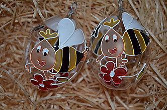 Dekorácie - Kraslica so včielkou - 7858105_