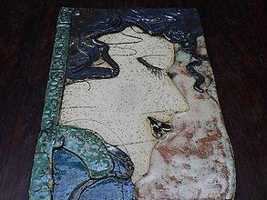 Dekorácie - Keramika, Tvář zasněné ženy.. - 7855985_