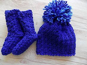 Detské čiapky - setík čiapočka +ponožky - 7856848_