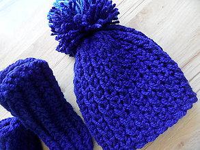 Detské čiapky - setík čiapočka-ponožky - 7856998_