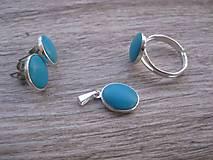 Sady šperkov - Ováliky - sada, postriebrené Ag - 7856734_