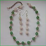 Sady šperkov - set - náhrdelník a náušnice / ruženin,avanturin - 7855974_