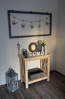 Nábytok - stolík/regál s prekríženými latkami  - 7857250_