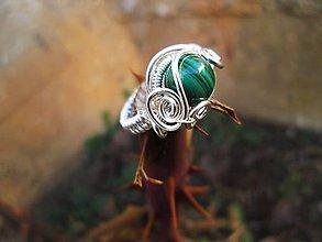 Prstene - malachit - 7855779_