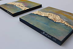 Obrazy - Akryl na plátne - Zlatá cesta - 7855437_