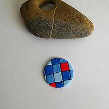 Náhrdelníky - Mozaikový prívesok (kocky) - 7855395_