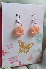 Náušnice - Náušnice - Silver-Lined Milky Peach - 7862848_