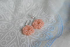 Náušnice - Náušnice - Silver-Lined Milky Peach - 7862850_