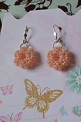 Náušnice - Náušnice - Silver-Lined Milky Peach - 7862851_