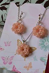 Sady šperkov - Sada - Silver-Lined Milky Peach - 7862901_