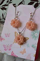 Sady šperkov - Sada - Silver-Lined Milky Peach - 7862903_