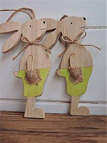 Polotovary - Veľkonočná dekorácia, veľkonočný zajac - 7862665_