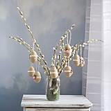 Dekorácie - Veľkonočné vajíčko s kvetmi - 7862040_