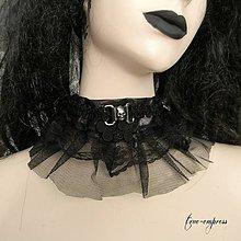 Náhrdelníky - Gotický obojok s lebkou - 7862793_