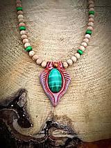 Náhrdelníky - náhrdelník Malachit - 7858402_