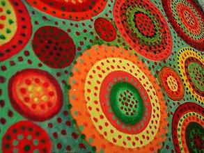 Obrazy - Červené na zelenom - 7858832_