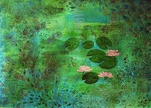 Obrazy - Lekná v čarovnej záhrade - 7859013_