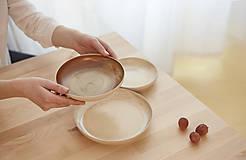 Nádoby - Tanier, točený keramický tanier s oranžovou efektnou glazúrou - 7858516_