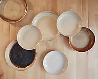 Nádoby - Tanier, točený keramický tanier s oranžovou efektnou glazúrou - 7858517_
