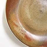 Nádoby - Tanier, točený keramický tanier s oranžovou efektnou glazúrou - 7858519_