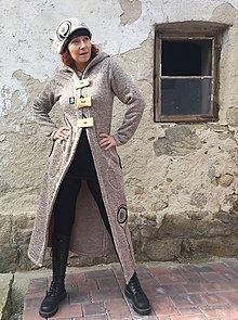 Kabáty - Dlouhý kabátek ze svetroviny - 7862183_