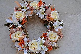 Dekorácie - Veľkonočný veniec na dvere - 7861886_