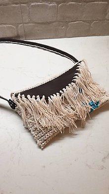 Kabelky - Listová kabelka so strapcami - 7861895_