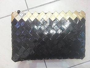 Kabelky - Zlato-čierna kabelka - 7858288_