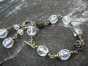 Sady šperkov - Sada KRIŠTÁĽ A BRONZ - 7858823_