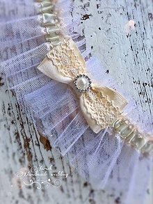 Bielizeň/Plavky - Luxusný tylový podväzok Ivory - 7860074_