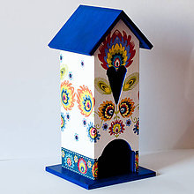 Pomôcky - Domček na čaj - Folklór 1 - Modrý - 7858594_