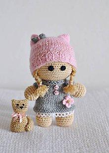Hračky - Bábika+ mačička ♥ - 7859466_