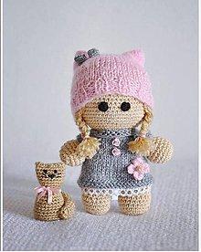 Hračky - Bábika+ mačička ♥ - 7860088_