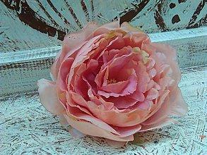 Iný materiál - Pivónia oranžovo- ružová - 7862043_