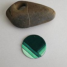 Náhrdelníky - Mozaikový prívesok (čiarový tieň) - 7861286_