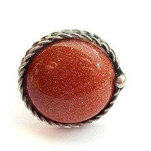 Prstene - Cínovaný prsteň - Zlatý avanturín - 7866139_